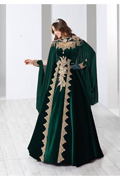 Ceyyiz Bindallı Kına Elbisesi 5 Parça 20-113 Yeşil