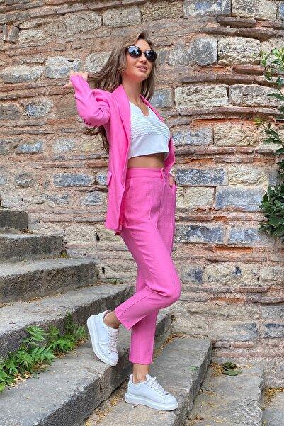 For Angels Pembe Kristal Takım Elbise 192061736