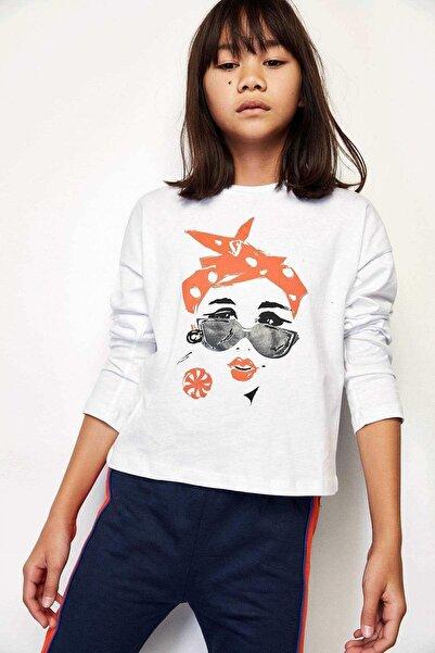 Riccione Kız Çocuk Beyaz T-shirt