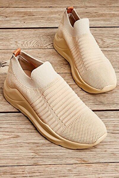 Acık Bej Kadın Sneaker L0673450582