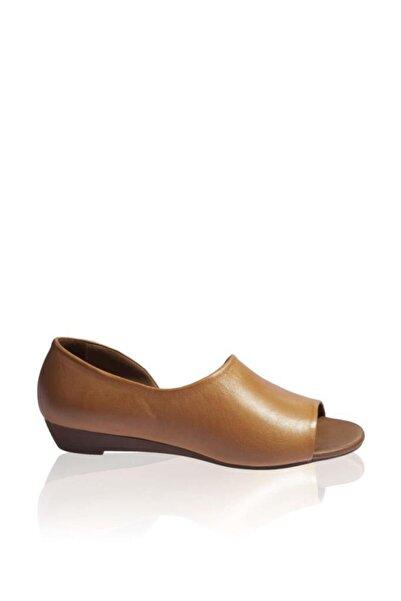 BUENO Shoes Tek Yandan Ve Ucu Açık Hakiki Deri Kadın Babet 9j1605