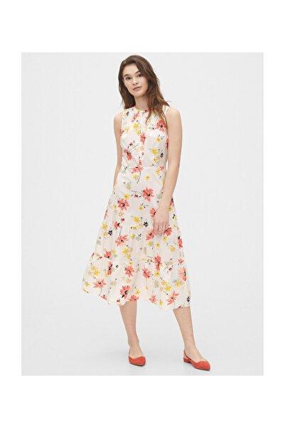 GAP Çiçek Desenli Midi Elbise