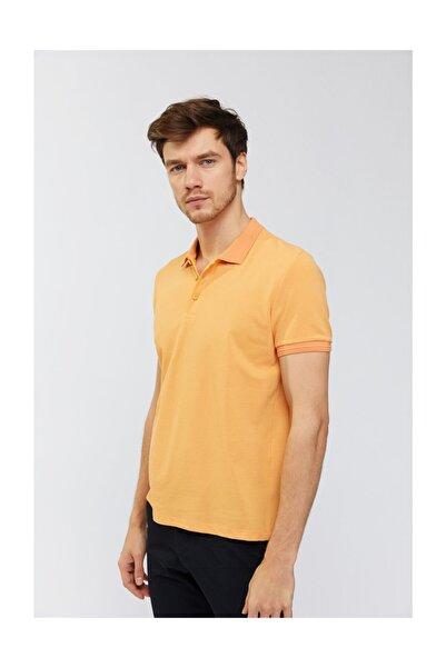 Avva Erkek Koyu Sarı Polo Yaka Düz T-shirt A91b1700
