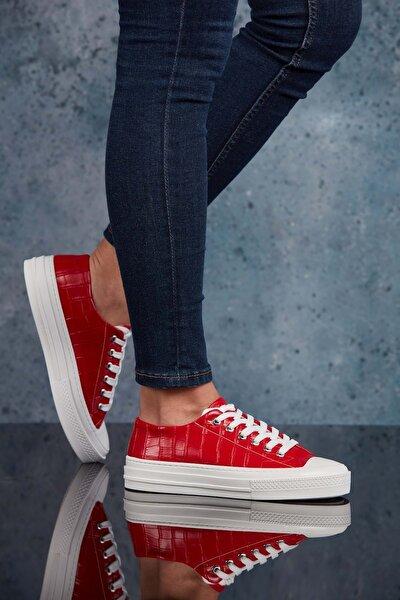 DARK SEER Kırmızı Krokodil Kadın Sneaker