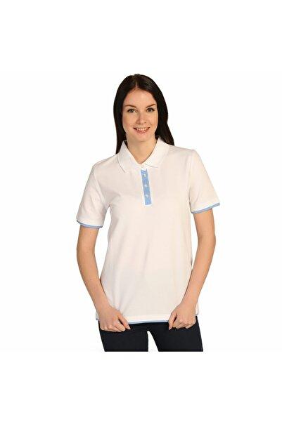 Solo Beyaz Polo Yaka Bayan Pike Pamuk Tişört