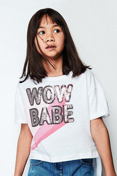 Patrizia Pepe Kız Çocuk Beyaz T-shirt 19sspjfte39