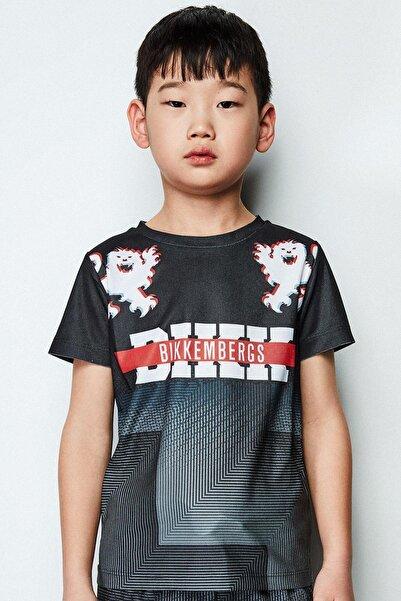 Bikkembergs Erkek Çocuk Siyah T-shirt 19ssdjmte73