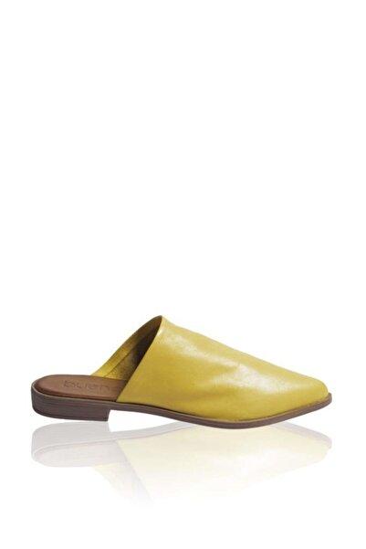 BUENO Shoes Önden Kapalı Hakiki Deri Kadın Düz Terlik 9n0124