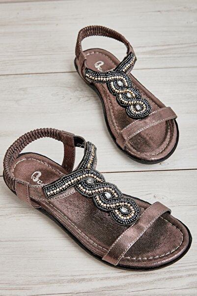 Bambi Platin Kadın Sandalet L0625014878