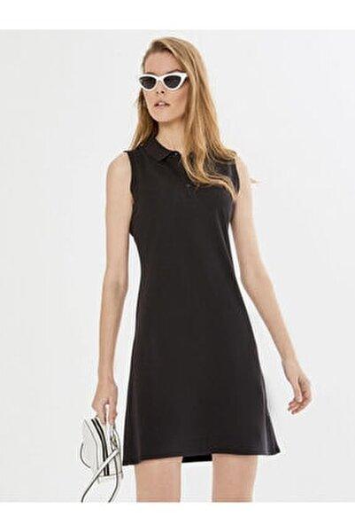 Xınt Polo Yaka Kolsuz Pamuklu Basic Elbise