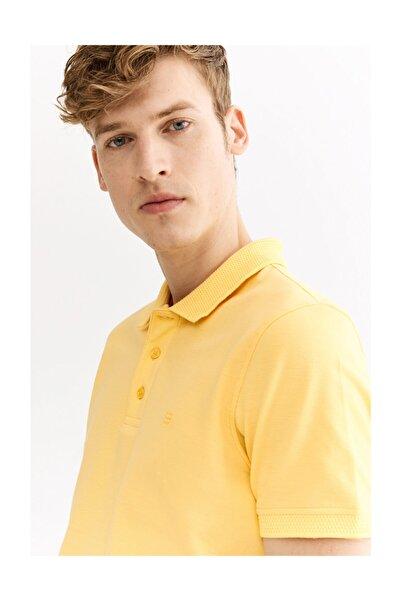 Avva Erkek Sarı Polo Yaka Düz T-shirt A01b1146