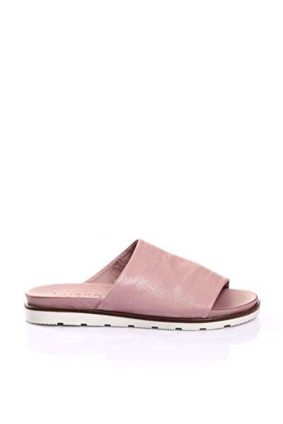 BUENO Shoes Önden Açık Hakiki Deri Kadın Düz Terlik 9l0503