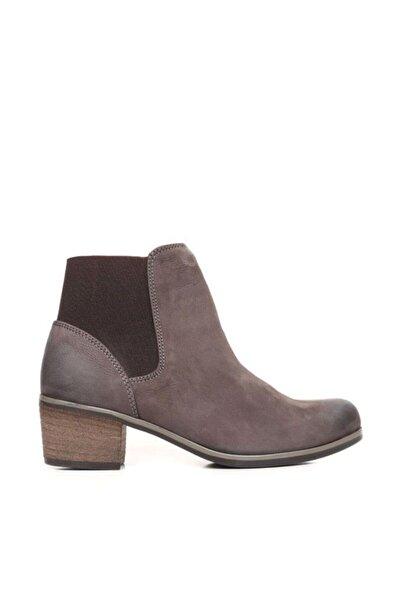 BUENO Shoes Arkadan Lastikli Hakiki Deri Kadın Topuklu Bot 9p5600
