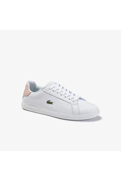 Lacoste Graduate 120 1 Sfa Kadın Beyaz - Pudra Deri Sneaker 739SFA0015