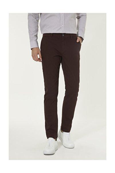 Avva Erkek Bordo Yandan Cepli Armürlü Slim Fit Pantolon A92s3070