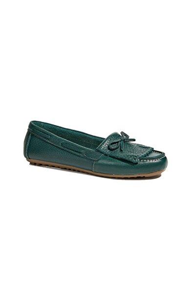 Desa Yeşil Emma Kadın Deri Loafer