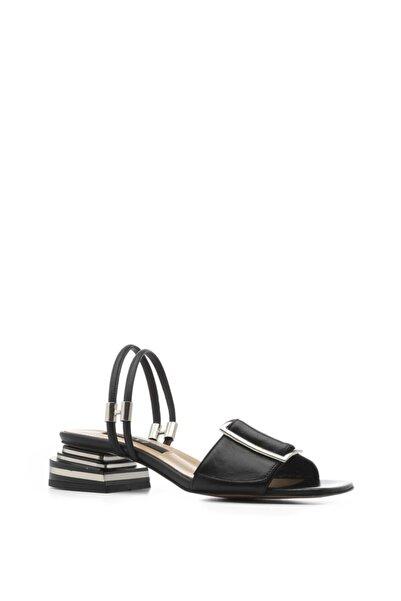 İLVİ Marsh Bayan Sandalet Siyah Deri