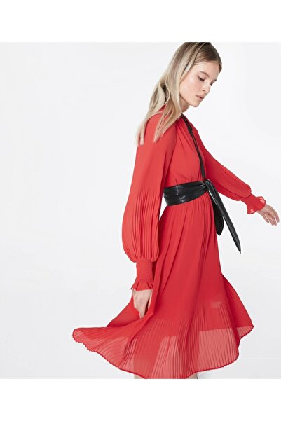 İpekyol Kemerli Pilisole Elbise