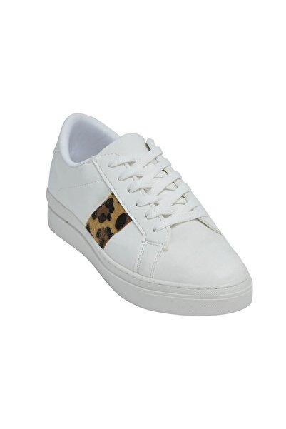 David Jones Kadın Spor Ayakkabı Beyaz / Leopar