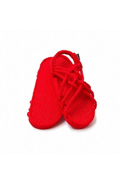 Nomadic State Of Mind - Jc Kırmızı Hasır Ip Sandalet