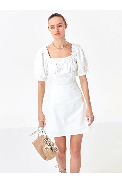 Twist Yaka Detaylı Elbise