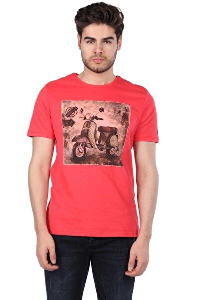Phazz Brand Scooter Baskılı Erkek Bisiklet Yaka T-shirt