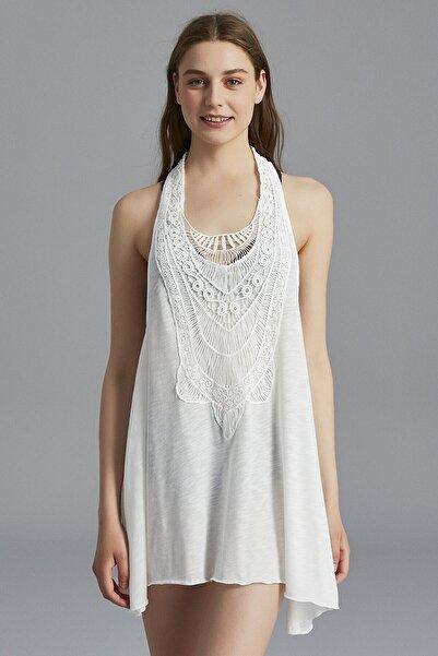 Penti Kırık Beyaz Crochet Tunik
