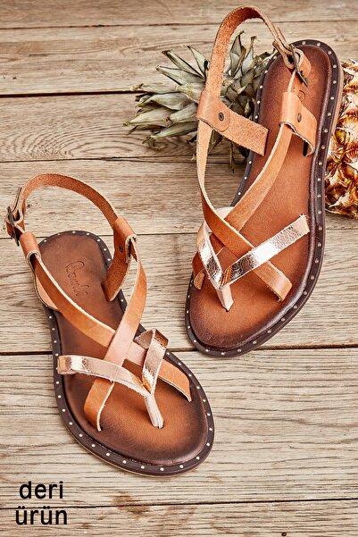 Bambi Rose/taba Kadın Sandalet L0685080703