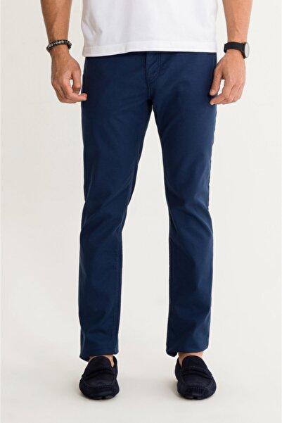 Avva Erkek Lacivert 5 Cepli Armürlü Slim Fit Pantolon A01s3072
