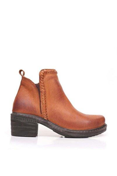 BUENO Shoes Fermuarlı Ve Detaylı Hakiki Deri Kadın Düz Bot 9m1900