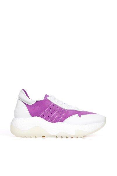 BUENO Shoes Hakiki Deri Bağcık Detaylı Kadın Spor Ayakkabı 20wq5200