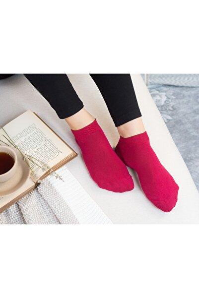 Madame Coco Leaf Patik Çorap - Kırmızı