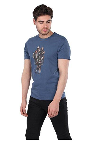 Phazz Brand Mikrofon Baskılı Erkek Bisiklet Yaka T-shirt