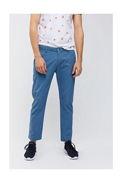 Avva Erkek Indigo Yandan Cepli Mikro Desenli Slim Fit Pantolon A91y3018