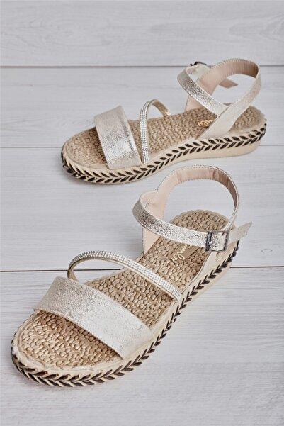 Bambi Altın Kadın Sandalet L0823131899