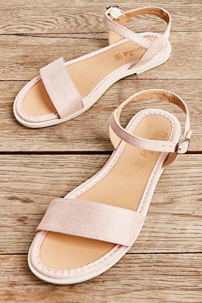 Bambi Pudra Kadın Sandalet L0652071265