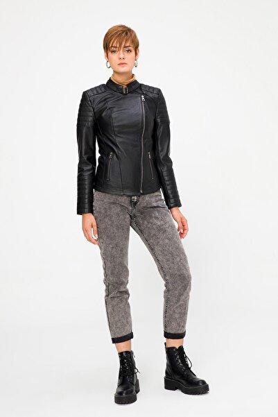 Deri Company Kadın  Siyah Hakiki (Gerçek) Deri  Ceket Zoe 211524