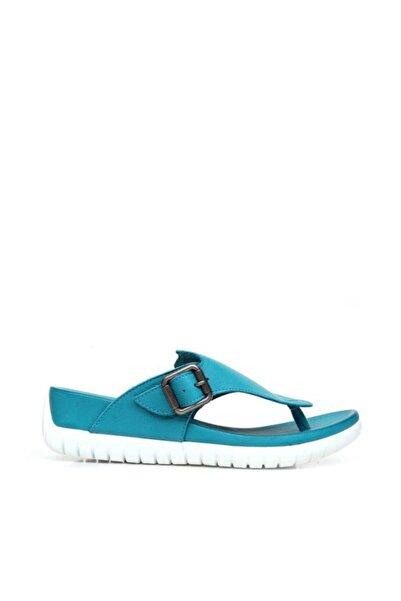 BUENO Shoes Parmak Arası Hakiki Deri Kadın Düz Terlik 9n7104