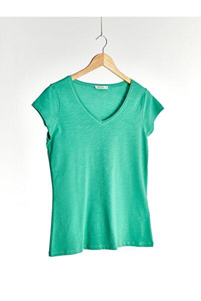 LC Waikiki Kadın Yeşil  Tişört