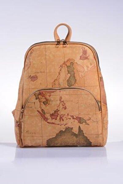 Luxury Sg1861 Brown Map Kadın Sırt Çantası