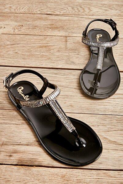 Bambi Sıyah Kadın Sandalet L0500024599