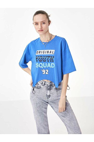 Twist Asimetrik Kesim Tshirt