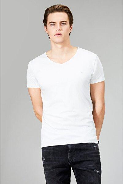 Avva Erkek Açık Gri Ultrasoft V Yaka Düz Modal T-shirt A91b1173