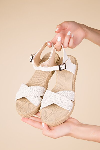 SOHO Beyaz Kadın Sandalet 15131