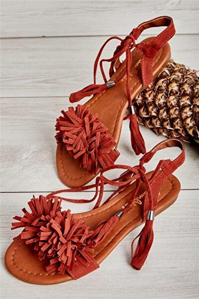 Bambi Kiremit Kadın Sandalet L0503172572