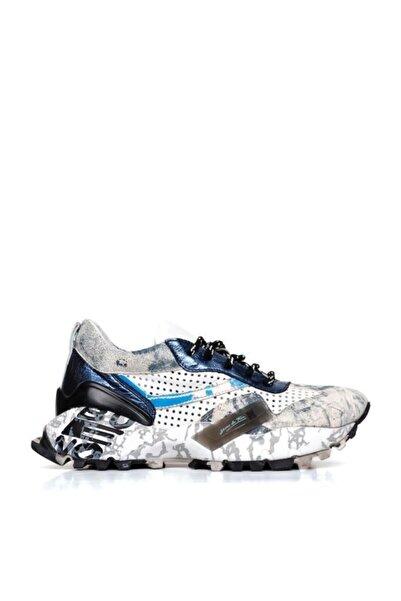 BUENO Shoes Hakiki Deri Baskılı Taban Detaylı Kadın Spor Ayakkabı 20wq10602