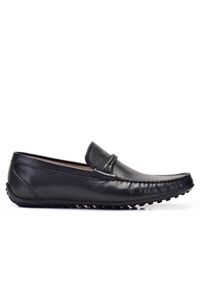 Nevzat Onay Hakiki Deri Siyah Günlük Loafer Erkek Ayakkabı -11733-