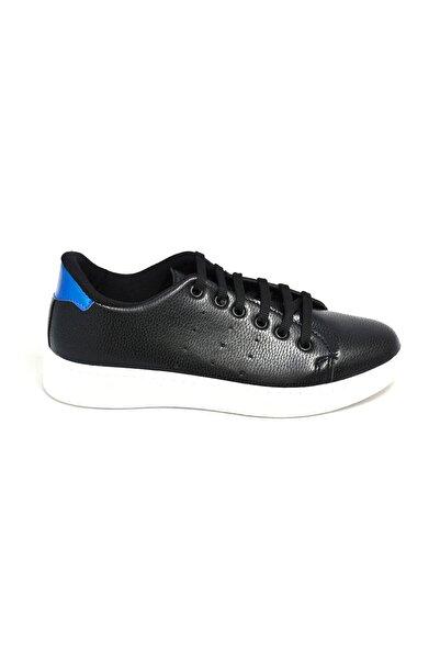 David Jones Kadın Spor Ayakkabı Siyah Cilt / Mavi