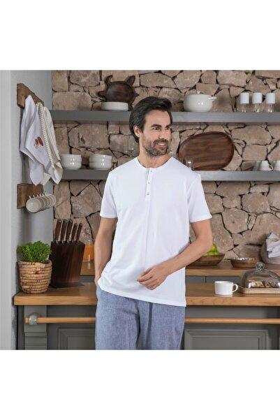 Chakra Hames Erkek T-shirt Beyaz