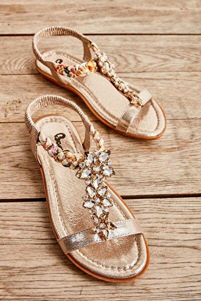 Bambi Altın Kadın Sandalet L0625307278